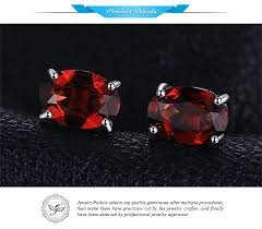 <b>JewelryPalace</b> Oval 2ct Natural <b>Red Garnet</b> Birthstone Stud Earrings ...