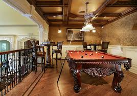 pool table family room traditional designing tips with billiar light iron railing billiard room lighting