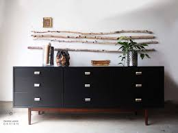 a mid century dresser in benjamin moore black how to style furniture blacks furniture