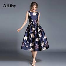 <b>ARiby Women</b> Summer Printed <b>Dress</b> Elegant Maxi Ball <b>Dress</b> New ...