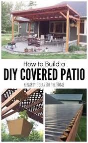covered patio freedom properties: how to build a diy covered patio using lattice and
