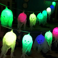 2.5M Battery Powered 10 LED Skull String Light Decoration Lamp ...