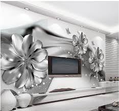 online get cheap custom murals com alibaba 3d wall murals black and white flower custom mural 3d 3d wall papers