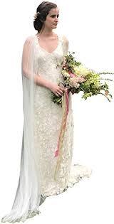 kelaixiang Women's Ivory Cloak <b>Wedding Bridal Jackets White</b> Cape ...