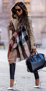 #spring #outfits <b>woman</b> wearing brown coat and blue pants. Pic by ...
