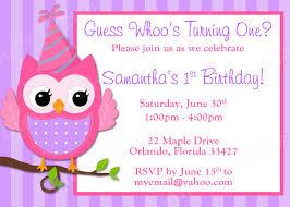 children birthday invitations anuvrat info children s owl birthday invitation girl design 3