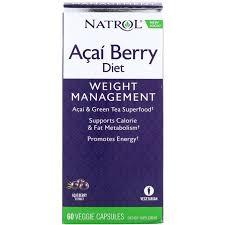Natrol, Acai Berry Diet, Acai & Green Tea Superfoods, 60 Veggie ...