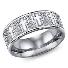 <b>8mm Classic</b> Cross Triton Tungsten <b>Wedding Band</b> or Ring