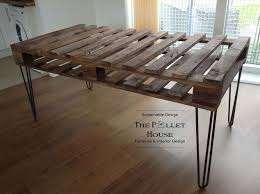 industrial pallet dining table dining room table made of salvage pallet diy how to painted furniture