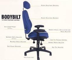 room ergonomic furniture chairs: bodybilt  point posture control adjustability active ergonomics