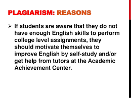 What is Plagiarism  by Dr  Sam Ang Sam PLAGIARISM  REASONS     If students