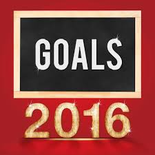 career management goals vs resolutions a blue ribbon resume goal for 2016 year on blackboard on red studio room background