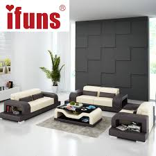 ifuns black and white living room home furnituretop grain leatherlarge size 123 sectional sofa black white living room furniture