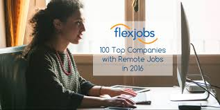top companies remote jobs in flexjobs the 100 top companies remote jobs in 2016 check out the 2016 remote job