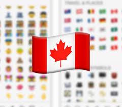 Image result for canadian flag emoji
