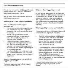 Sample Child Support Agreement - 5+ Documents In PDF,Word Child Support Agreement Template Free Download