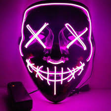 """Stitches"" <b>LED Mask</b> Costume Halloween <b>Rave</b> Cosplay Party"