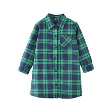 Kids Girl's Long Sleeve Button Down Cotton Plaid ... - Amazon.com