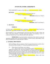 event planner contract more event planning contract templates