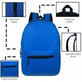 "<b>Wholesale</b> 19"" Basic Backpacks <b>in 12 Assorted Colors</b> - <b>Bulk</b> Case ..."