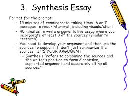 ap free response  essay portion  english language and composition    synthesis essay format for the prompt  –  minutes of reading note