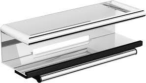 <b>Полка Black&White Swan</b> SN-2351 со стеклоочистителем хром ...