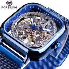 Online Shop <b>FORSINING</b> Top Brand Luxury Unisex <b>Watch Men</b> Auto ...
