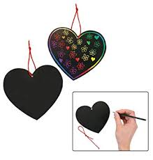 Fun Express Magic Color Scratch Hearts (24 Pieces ... - Amazon.com