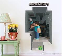 Best <b>New</b> Arrivals Minecraft <b>Wall Stickers 3d</b> Cartoon Wallpapers ...