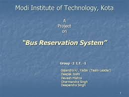 bus reservation system  authorstream