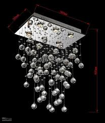 Modern Crystal Chandeliers For Dining Room Hot Sales Square L500w300h800mm Modern Crystal Chandelier Home