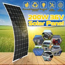 <b>200W</b> Flexible <b>Solar Panel 36V</b> MC4 Output Monocrystalline Roof ...
