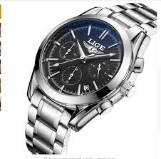 LIGE <b>Top Luxury Brand</b> Men <b>Military</b> Sport Watches Men's Quartz ...