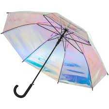 <b>Зонт</b>-трость полуавтомат <b>Molti Glare</b> Flare, перламутрово-розовый