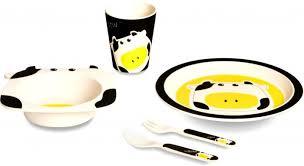 Бамбуковая <b>посуда</b> для детей Буренка <b>Eco</b>-<b>baby</b> — купить в ...