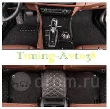 <b>Коврики в салон кожаные</b> + ворс (черные ) Toyota Camry 40 2006 ...