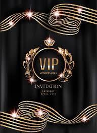 VIP Invitation Card With <b>Striped Curly</b> Ribbons, <b>Vintage</b> Frame ...