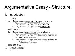 persuasive essay structure argumentative essay structuring your essay argumentative essay  argumentative essay   structure