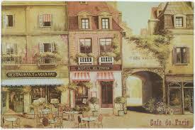 "<b>Доска разделочная</b> Gift'n'<b>Home</b> ""Парижское кафе"", стеклянная, 29 ..."