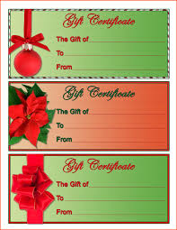 4 christmas gift certificate template survey christmas gift certificate template by kha12441