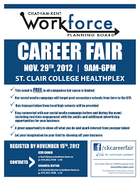 chatham kent career fair do not miss out