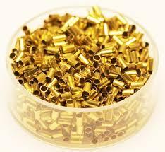 Brass Tube Crimp Beads 2 <b>x</b> 3 mm <b>1000 Pcs</b>. Hole 1.5 mm Raw | Etsy
