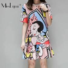 <b>L 4XL Plus Size Women</b> Bohemia Print Runway Dress Summer ...