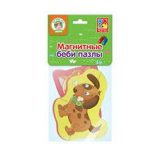 "<b>Мягкие пазлы Vladi Toys</b> Baby puzzle ""Котенок и щенок"", купить по ..."