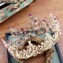 bridal crown pink