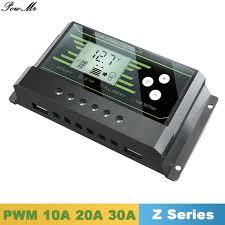 Y-SOLAR Solar Controller PWM <b>24V</b>/<b>12V Auto 30A 20A 10A</b> Back ...