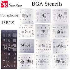 13pcs/lot <b>high quality</b> full set <b>BGA Reballing</b> Stencil dedicate kit for ...