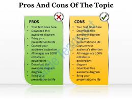 pros and cons powerpoint template slide