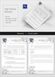 resume word excel pdf psd format clean high school resume cover letter highschoolresume mockup