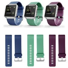 Smartasin 3Pack Waist Bands for Fitbit Blaze <b>Sport Silicone</b> ...
